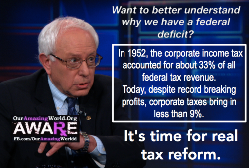 Bernie Sanders and Corporate Taxes