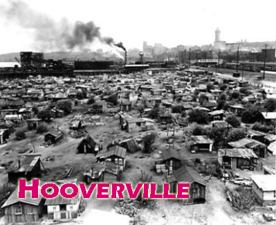 A Great Depression Homeless Camp