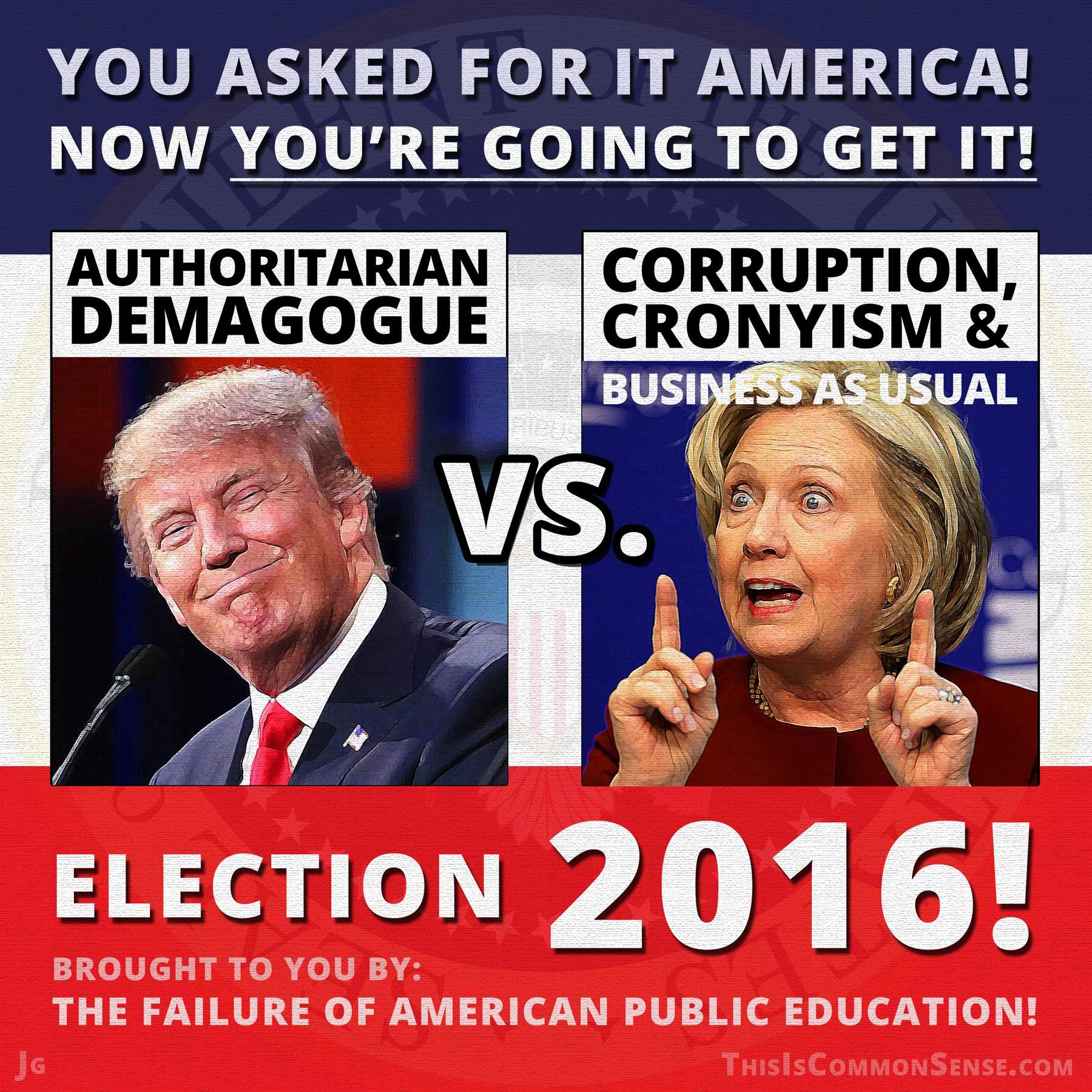 youaskedforit boiling it down hillary clinton vs donald trump john hively's
