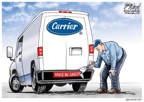 Carrier Corporation is moving to Mexico, and laying off hundreds of workers in Indianapolis.